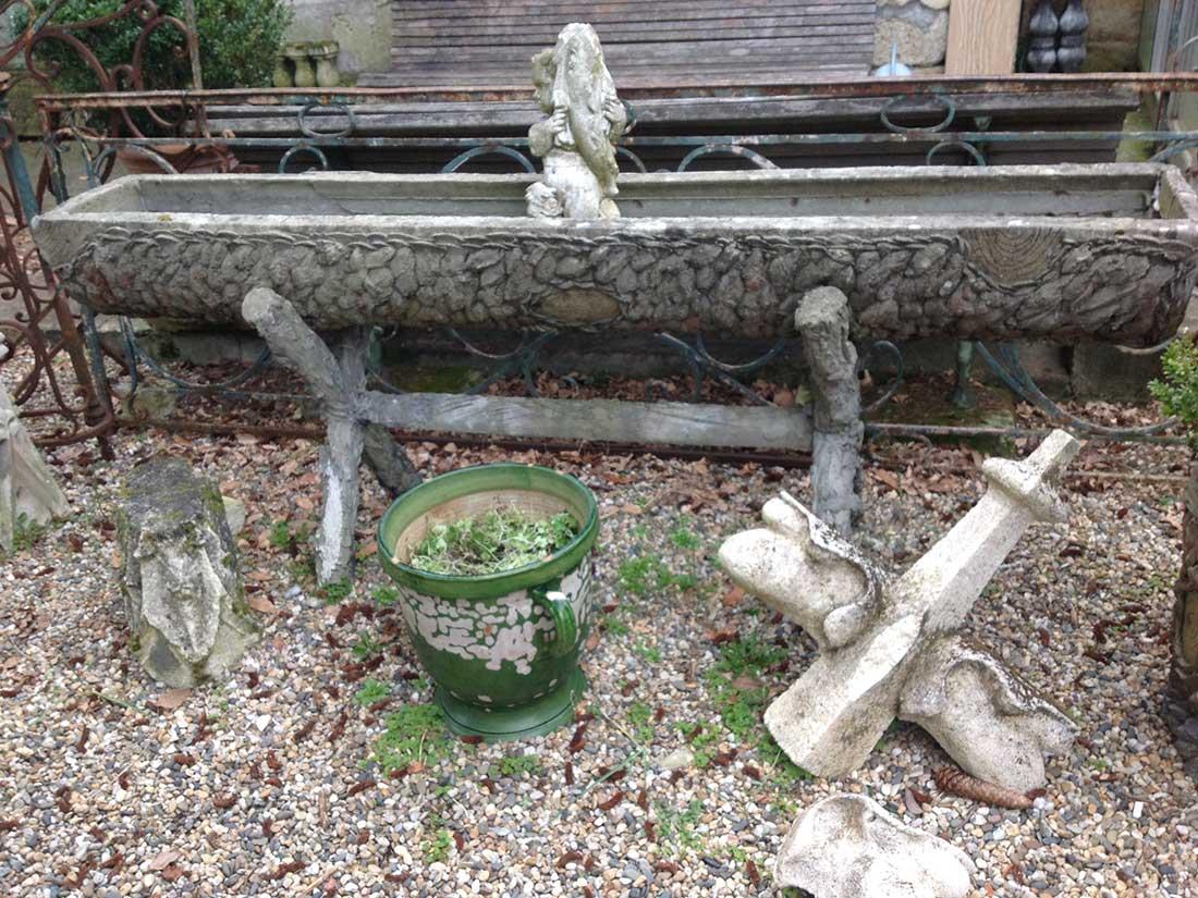 jardinière rococo béton